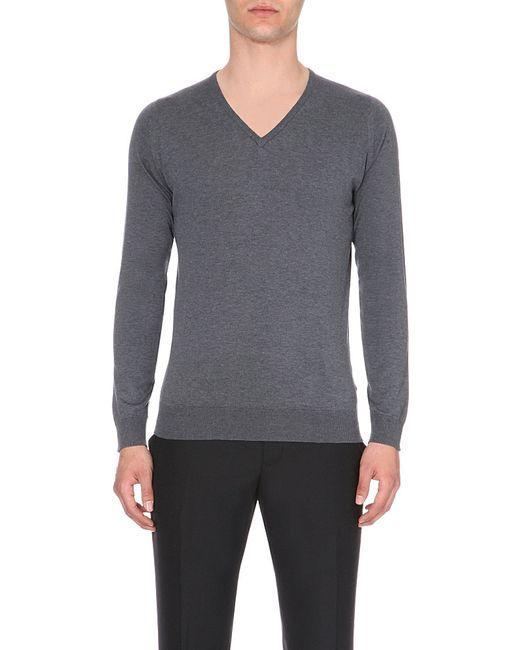 John Smedley | Gray Bampton Knitted Jumper for Men | Lyst