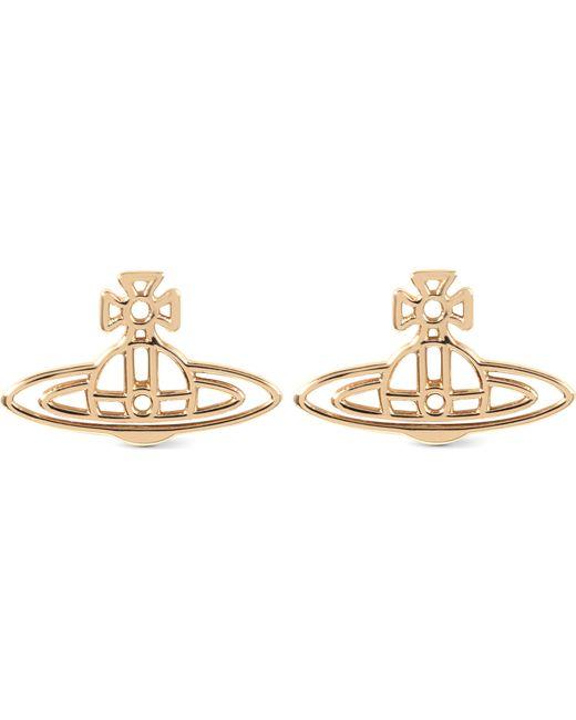 Vivienne Westwood   Metallic Thin Lines Flat Orb Stud Earrings   Lyst