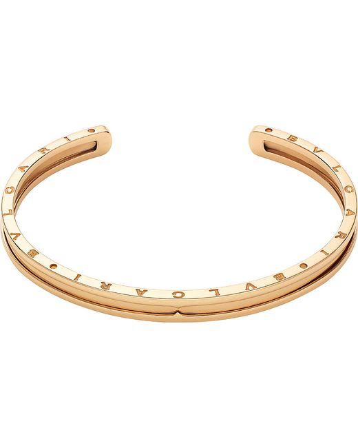 BVLGARI | B.zero1 18kt Pink-gold Bracelet Cuff | Lyst