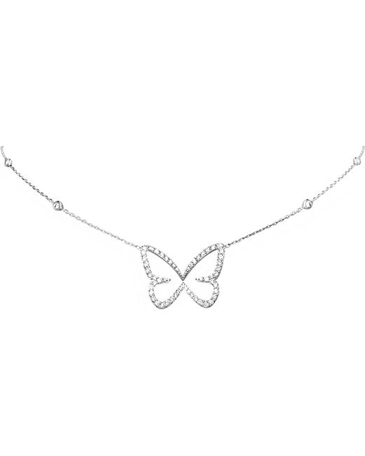 Messika | 18ct White-gold And Diamond Open-back Butterfly Necklace | Lyst