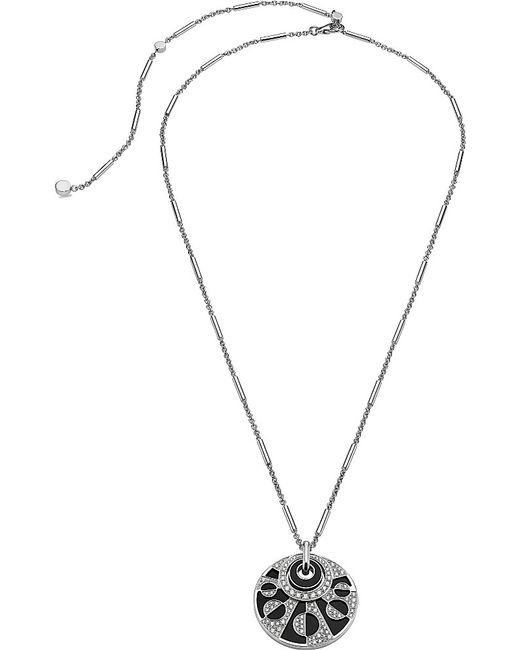 BVLGARI | Intarsio 18kt White-gold Necklace With Black Onyx And Pavé Diamonds. | Lyst