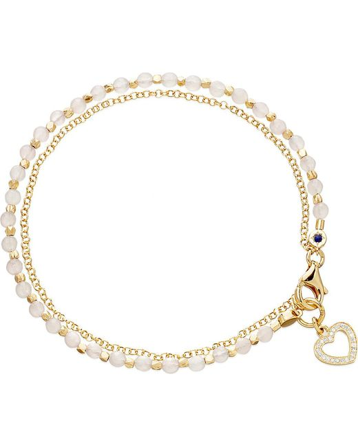 Astley Clarke | Metallic Heart Rose Quartz Friendship Bracelet | Lyst