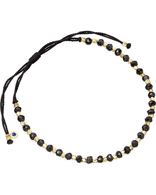 Astley Clarke | Metallic 18 Carat Gold Black Cord Bracelet | Lyst