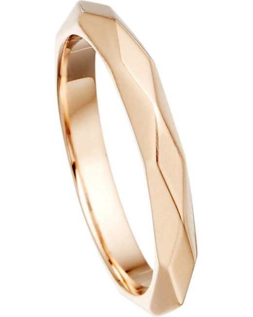 Astley Clarke | Pink Faceted 18ct Rose-gold Vermeil Stacking Ring | Lyst