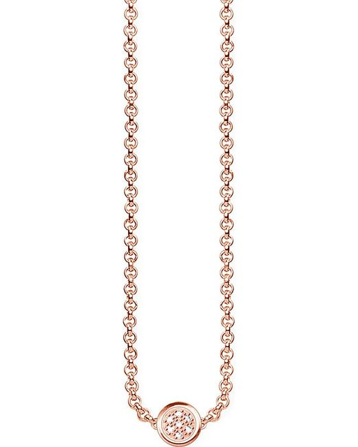 Thomas Sabo | Metallic Glam & Soul 18ct Rose Gold-plated And Diamond Necklace | Lyst