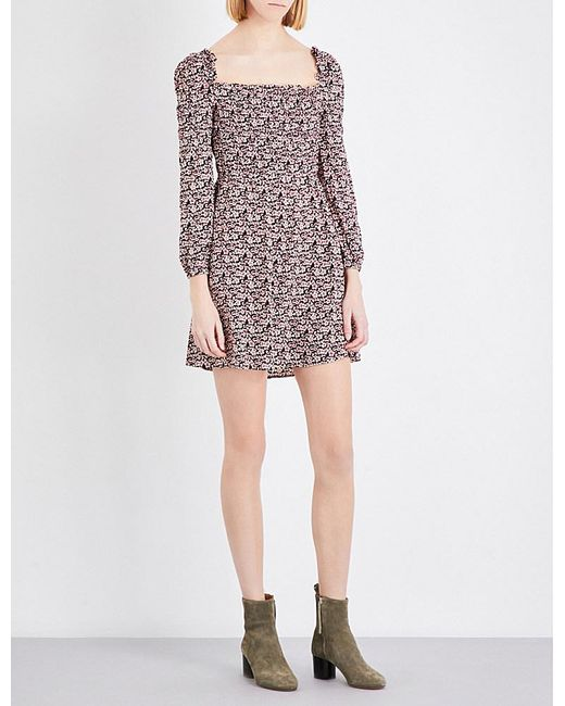 Maje | Multicolor Ranael Crepe Dress | Lyst