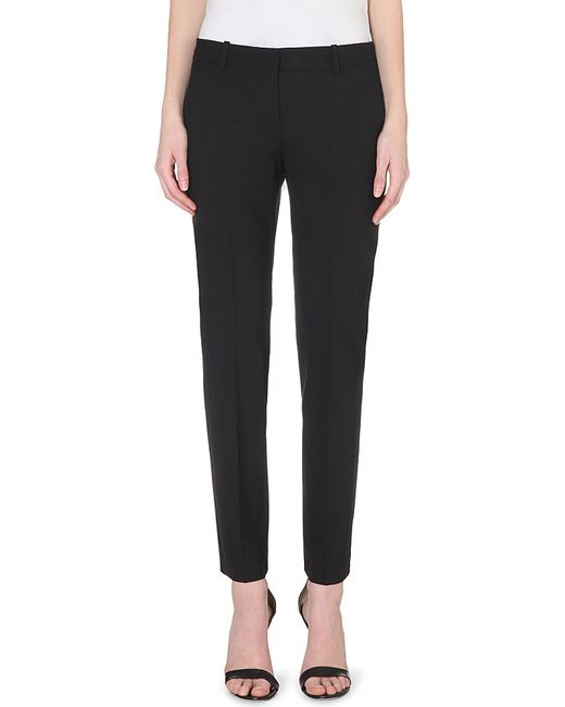 Theory   Black Testra Tapered Wool-blend Trousers   Lyst
