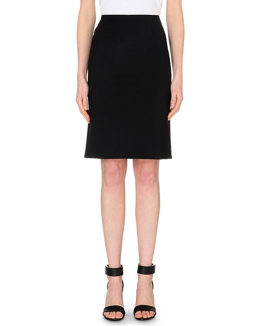 Theory | Black Stretch-wool Pencil Skirt | Lyst
