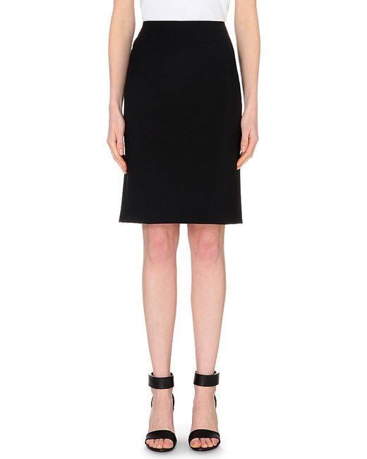 Theory | Black Stretch-wool Pencil Skirt | Lyst