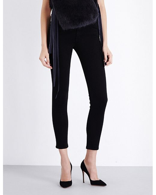 Helmut Lang | Black The Ankle Skinny Mid-rise Jeans | Lyst