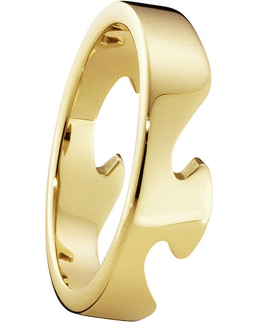 Georg Jensen | Metallic Fusion End 18ct Yellow-gold Ring | Lyst