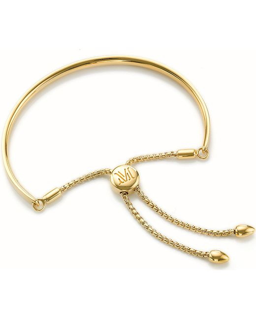Monica Vinader | Metallic Fiji 18ct Gold-plated Chain Bracelet | Lyst