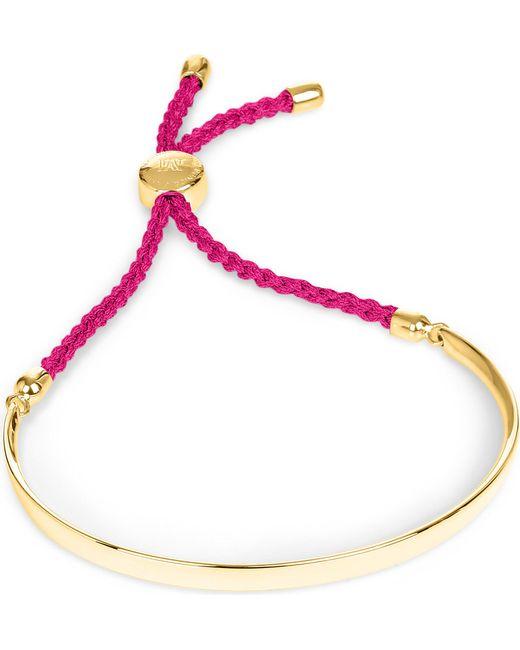 Monica Vinader | Metallic Fiji 18ct Gold-plated Friendship Bracelet | Lyst