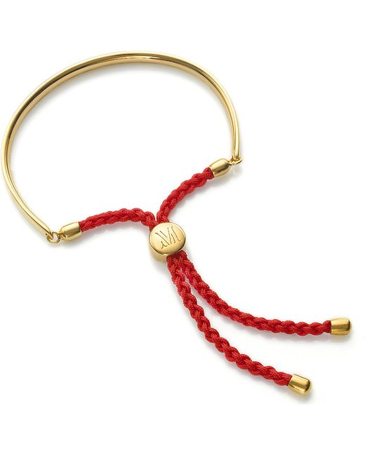 Monica Vinader | Purple Fiji 18ct Gold-plated Friendship Bracelet | Lyst