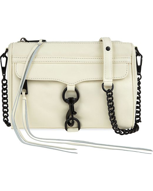 Rebecca Minkoff | White Mini Mac Grained Leather Shoulder Bag | Lyst