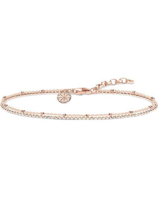 Thomas Sabo | Metallic Double Karma Wheel 18ct Rose Gold-plated Sterling Silver Bracelet | Lyst