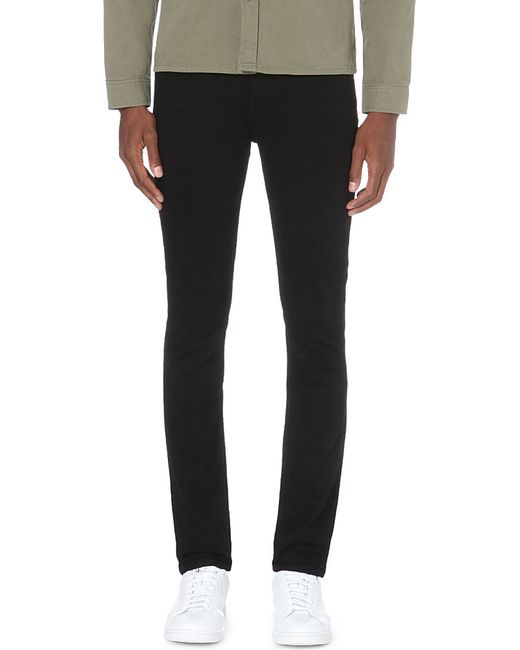 PAIGE | Black Lennox Skinny Mid-rise Jeans for Men | Lyst