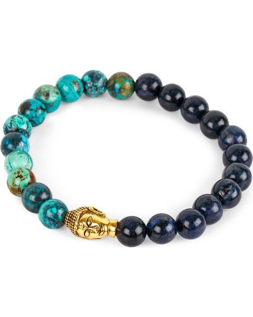 Nialaya   Blue Budda Head Necklace for Men   Lyst