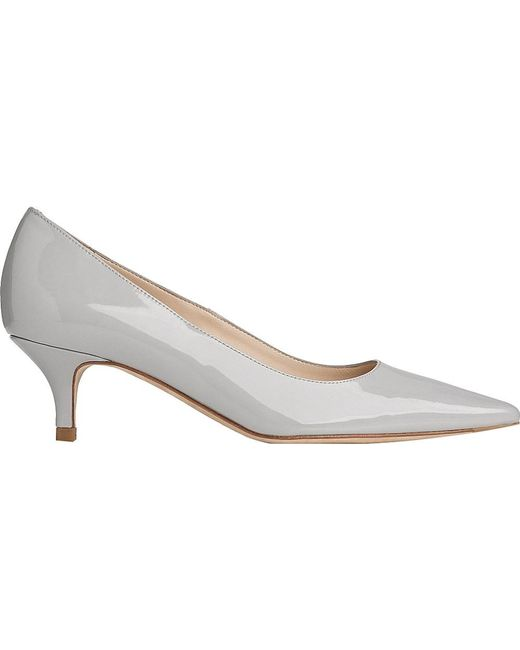 L.K.Bennett | Gray Minu Patent-leather Courts | Lyst