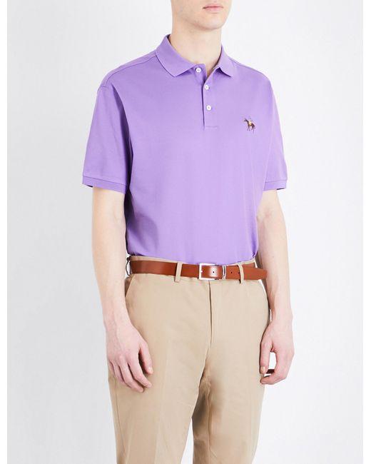 Ralph Lauren Purple Label | Purple Regular-fit Cotton-piqué Polo Shirt for Men | Lyst