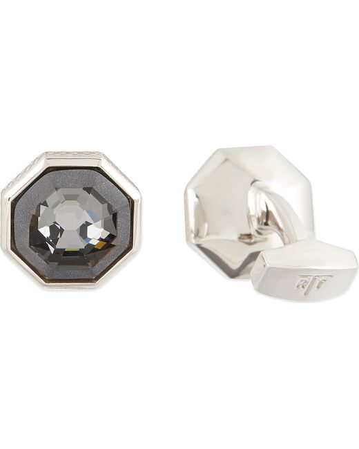Tateossian | Gray Rotondo Guilloché Cufflinks And Shirt Studs Set - For Men for Men | Lyst
