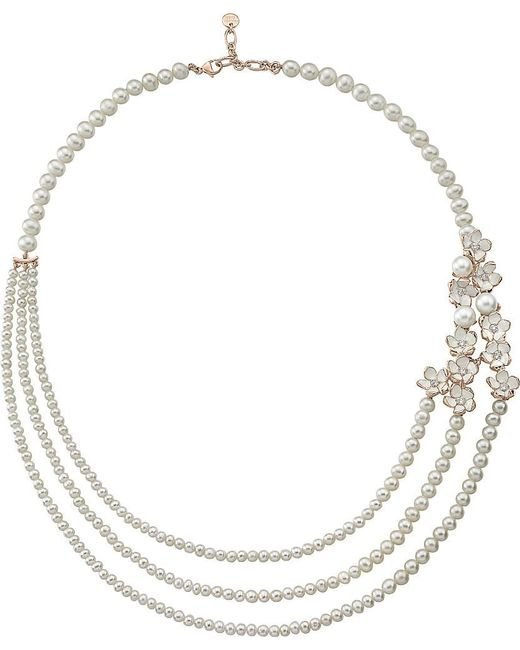 Shaun Leane | Metallic Silver And Gold Cherry Blossom Diamond Necklace | Lyst