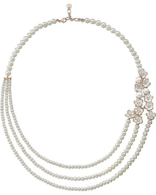 Shaun Leane | Metallic Rose Gold Cherry Blossom Diamond Necklace | Lyst