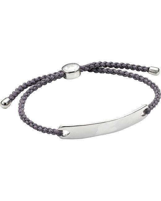 Monica Vinader   Metallic Havana Sterling Silver Friendship Bracelet   Lyst