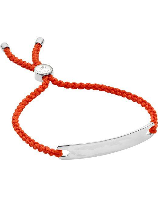 Monica Vinader | Red Havana Sterling Silver Friendship Bracelet for Men | Lyst
