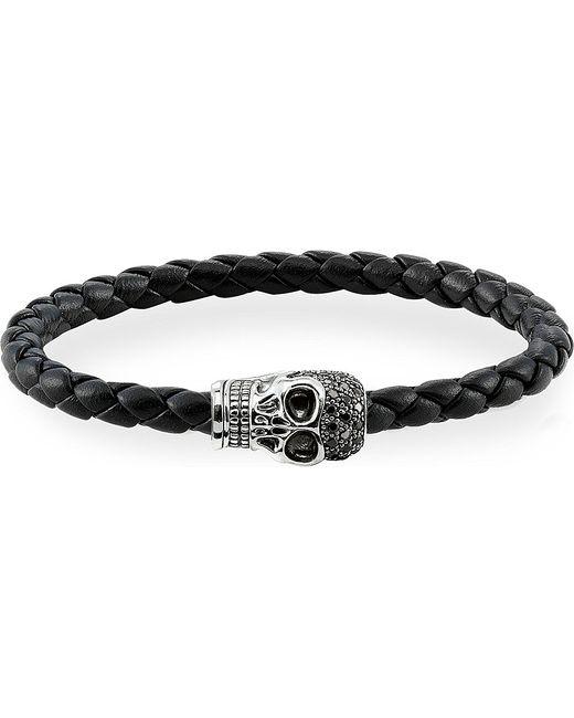Thomas Sabo | Metallic Black Zirconia Skull Unity Bracelet | Lyst