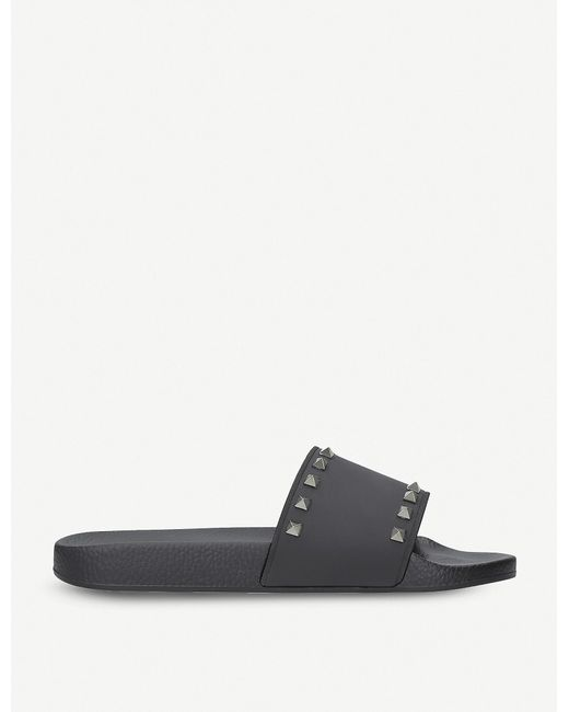 Valentino Black Rockstud Slides