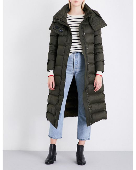 Burberry | Green Kanefield Quilted Down And Feather-blend Puffer Coat | Lyst