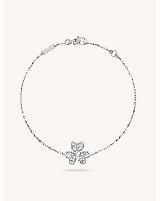 Van Cleef & Arpels Metallic Frivole White Gold And Diamond Bracelet