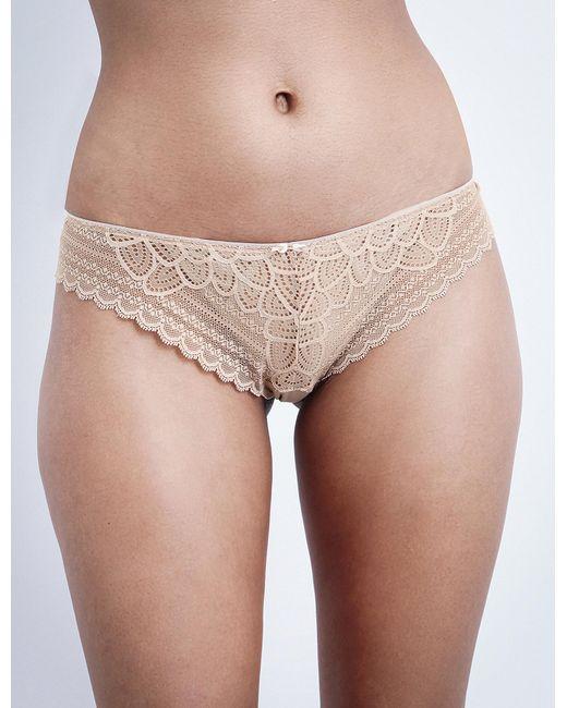 Chantelle | Natural Merci Stretch-lace Tanga Briefs | Lyst