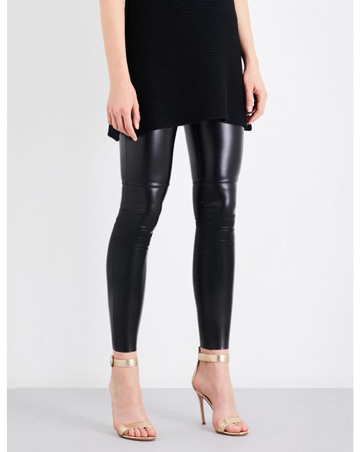 Wolford - Black Estella Leatherette leggings - Lyst