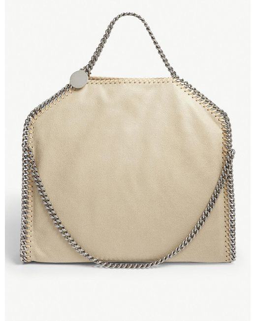 19fdebb7a7d0 Lyst - Stella McCartney Faux-suede Shoulder Bag in Natural