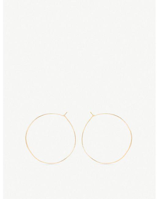 The Alkemistry - Metallic Zoë Chicco 14ct Yellow-gold Large Hoop Earrings - Lyst
