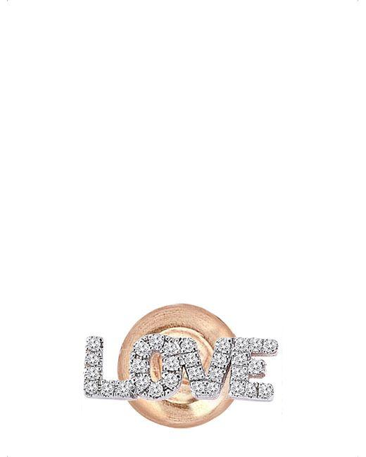 The Alkemistry - Metallic Kismet By Milka 14ct Rose-gold And Diamond Earring - Lyst