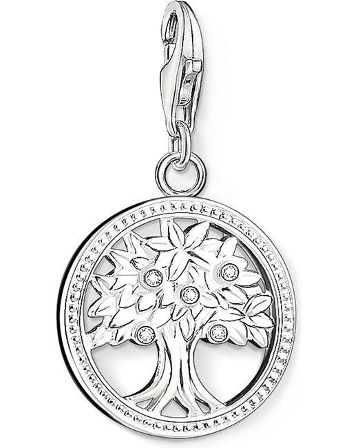 Thomas Sabo - Metallic Charm Club Silver And Zirconia Tree Of Life Charm Pendant - Lyst