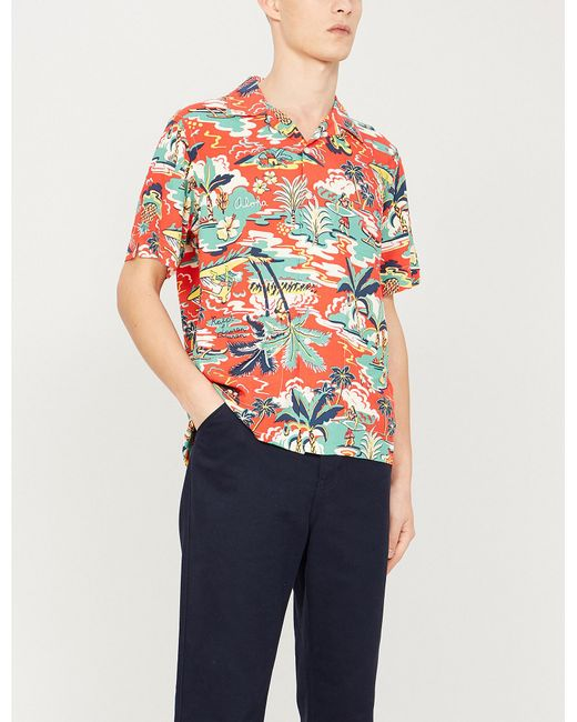 2961181a Polo Ralph Lauren - Multicolor Palm-print Relaxed Fit Crepe Shirt for Men -  Lyst