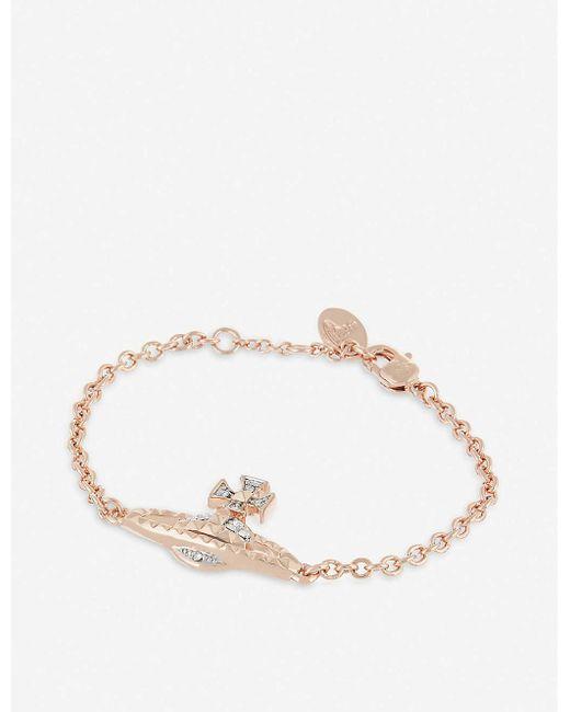 Vivienne Westwood Black Mayfair Bas Relief Bracelet