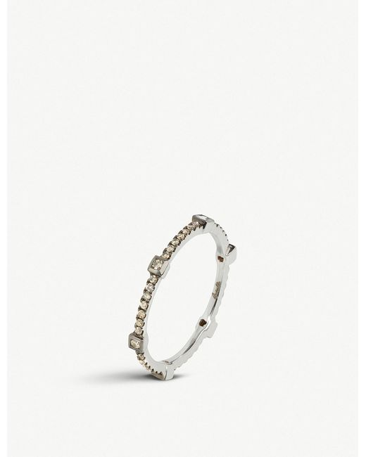 Annoushka - Pavilion 18ct White Gold Diamond Eternity Ring - Lyst