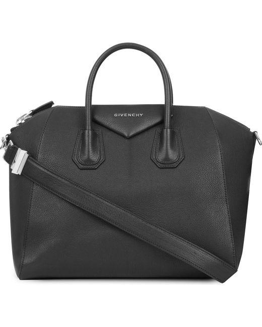 Givenchy - Black Antigona Sugar Medium Soft-grained Leather Tote - Lyst