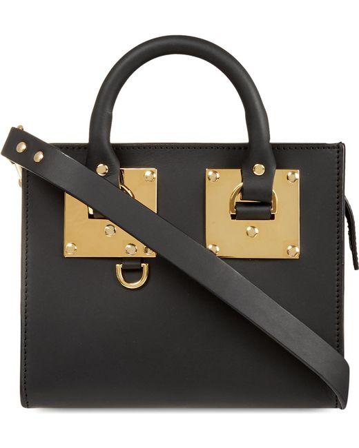 Sophie Hulme | Black Mini Box Leather Albion Tote | Lyst