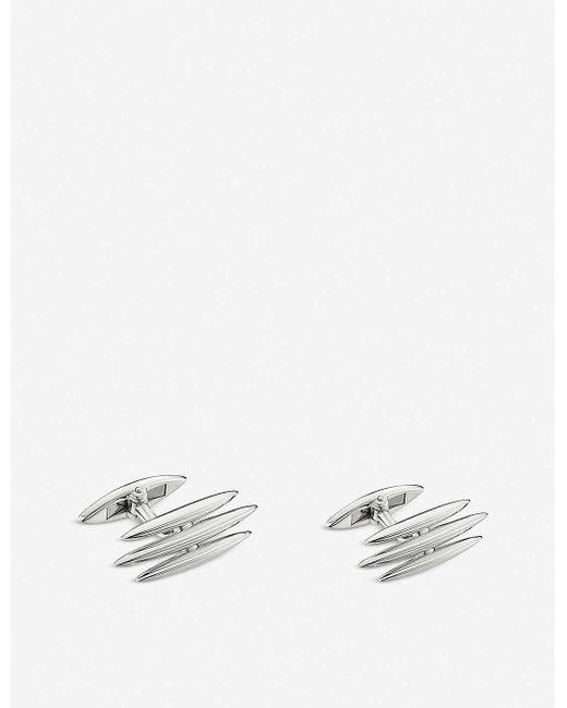 Shaun Leane Metallic Triple Arc Sterling Silver Cufflinks for men