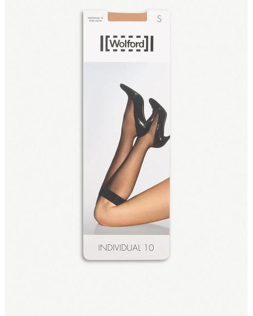 Wolford Black Individual 10 Knee-highs