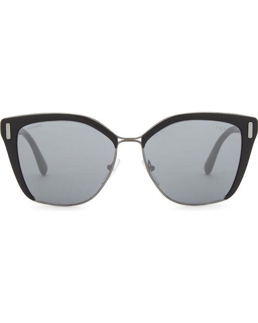 Prada - Multicolor Womens Silver Pr56ts Square-frame Sunglasses - Lyst