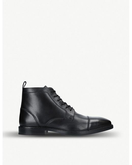 Kurt Geiger - Black Fenchurch Leather Ankle Boots for Men - Lyst
