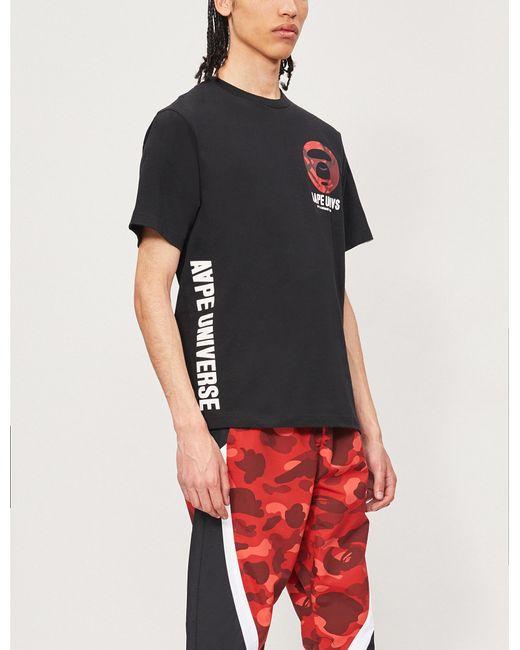 4444a5d90 Lyst - Aape Logo-print Cotton-jersey T-shirt in Black for Men