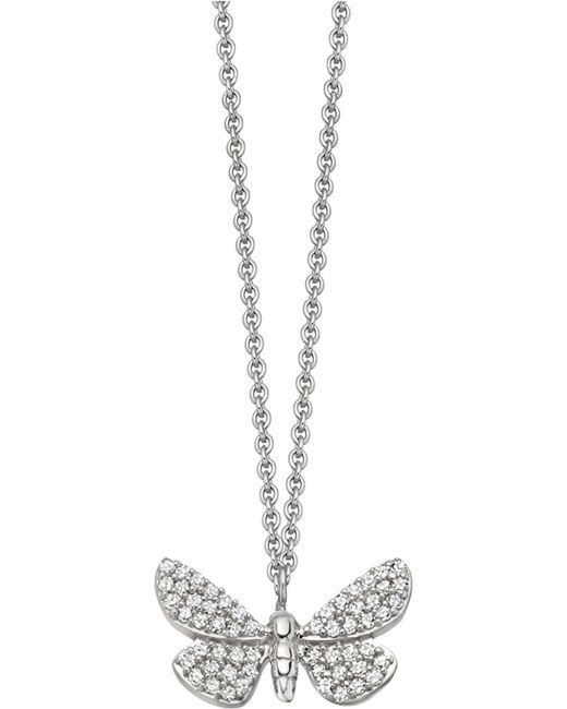 Astley Clarke - Cinnabar Papillon 14ct White-gold And Diamond Necklace - Lyst